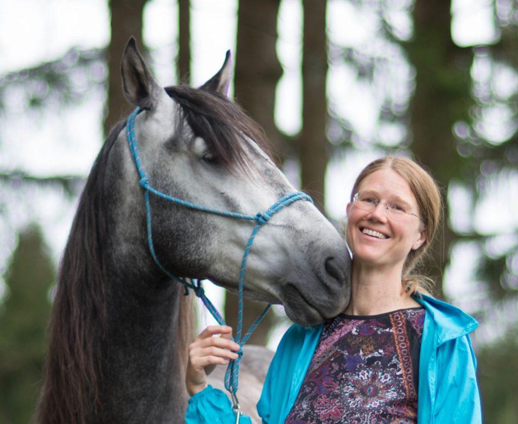 Sabine Pander mit Pferd